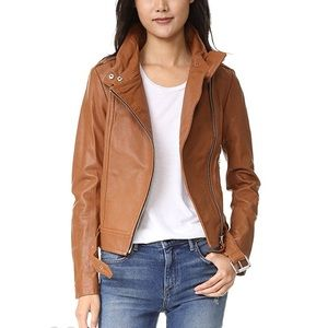 Mackage tan leather jacket